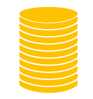 Coin Stack Icon GOLD PNG images