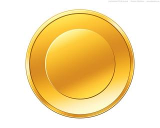 Empty Gold Coin Icon PNG images