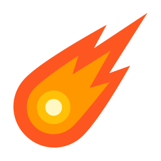 Orange Yellow Comet HD Photo PNG images