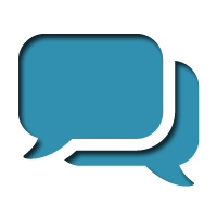 Communication Icon Blue PNG images