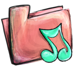 Cute Music Folder Icon Png PNG images