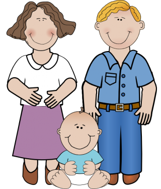 Mom, Dad And Baby Boy Png PNG images