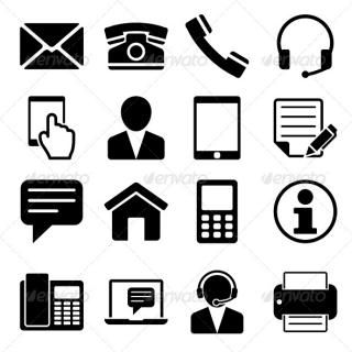 Contact Us Icons Set Web Icons PNG images