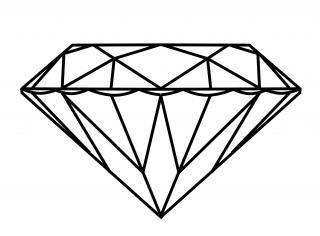 Designs Diamond Outline Png PNG images