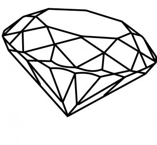 High-quality Diamond Outline Cliparts For Free! PNG images