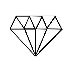 Diamond Outline Png Available In Different Size PNG images