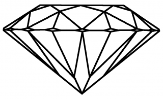 PNG Pic Diamond Outline PNG images