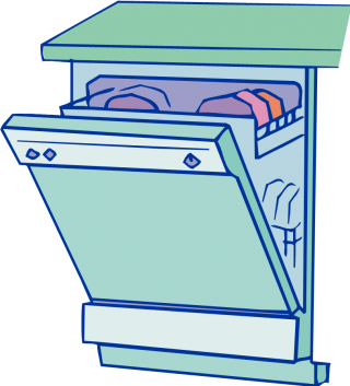 Icon Dishwasher Vector PNG images