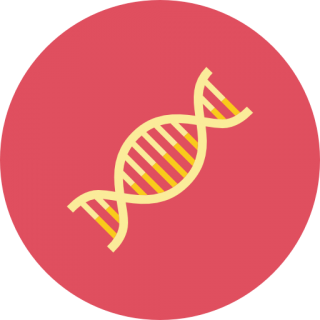 Red In Gold Color Dna Photo PNG images