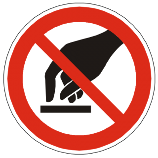 Do Not Touch Warning Icon Png PNG images