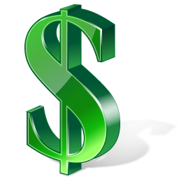 Dollar 3D Green Icon PNG images