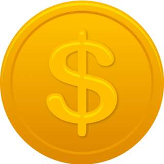 Orange Coin Us Dollar Icon PNG images