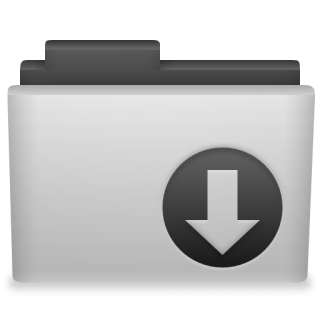 Grey Folder Download Icon Png PNG images