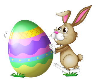 Colorful Easter With Bunny Png PNG images