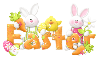 Easter Bunny Background PNG images