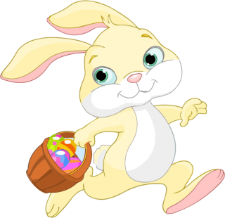 Easter Bunny Running PNG Clipart PNG images