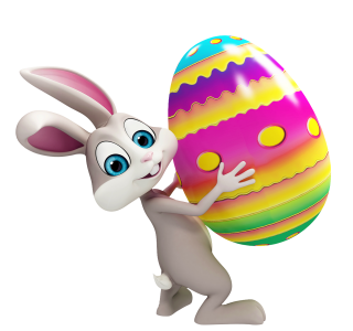 Easter On Bunny Hands Png PNG images