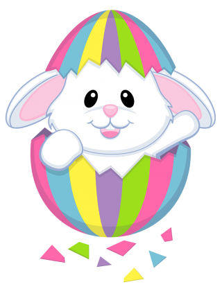 Happy Easter With Bunny Png Clipart PNG images