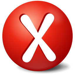X Error Icon PNG images