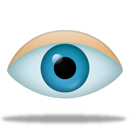 Eye Icon Pretty Office VIII Icons SoftIconsm PNG images