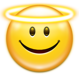 Emoticon Face Angel Icon PNG images