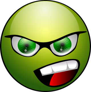 Green Happy Angry Face Icon PNG images