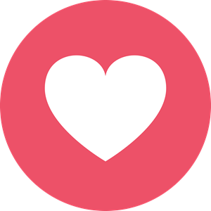 Facebook Love Logo Vector PNG images