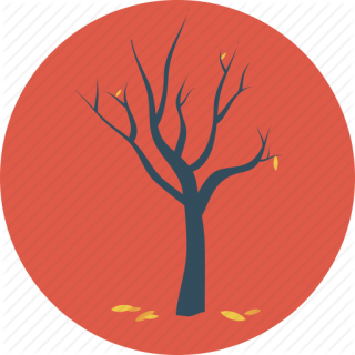 Autumn, Dead Tree, Fall, Fallen, Leaves, Tree Icon PNG images