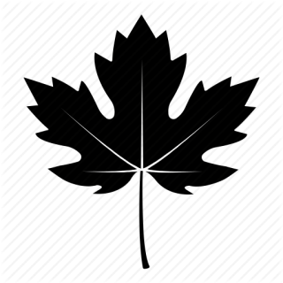 Black Fall Leaves Icon PNG images