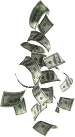 Dollar Cash Money Falling Png PNG images