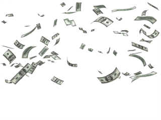 Money Saving, Falling Money Transparent Background PNG images