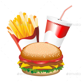 Fast Food Hamburger Fries And Drink Menu PREVIEW Png Fries PREVIEW Png PNG images