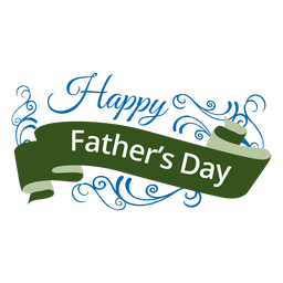 Fathers Day Ribbon Badge Transparent Png PNG images