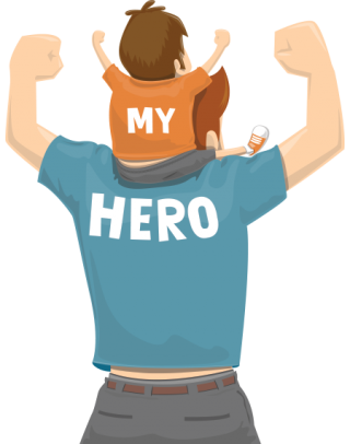 My Hero, Fathers Day Png PNG images