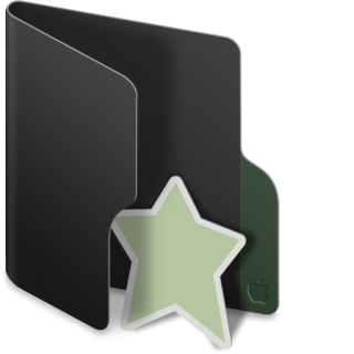 Black, Folder, Favourite Icon PNG images