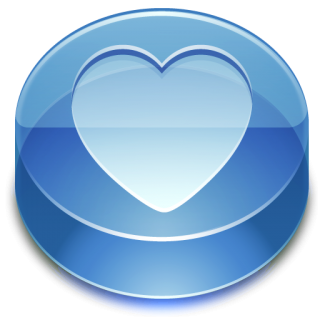 Blue, Heart, Glass, Favorite Icon PNG images