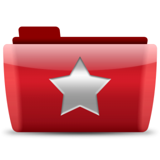 Red Folder Favorite Icon PNG images