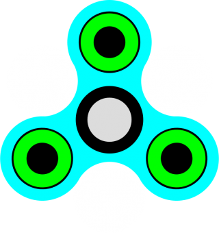 Fidget Spinner Pistachio Green And Light Blue Transparent Background Picture PNG images