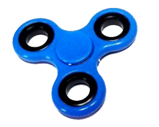 The Blue Plastic Spinner Fidget Stress Picture PNG images