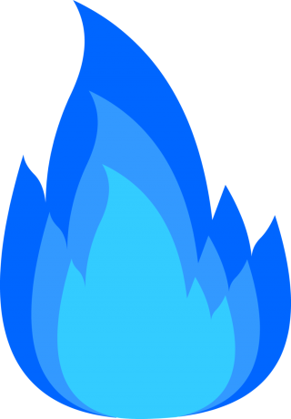 Blue Fire Png PNG images