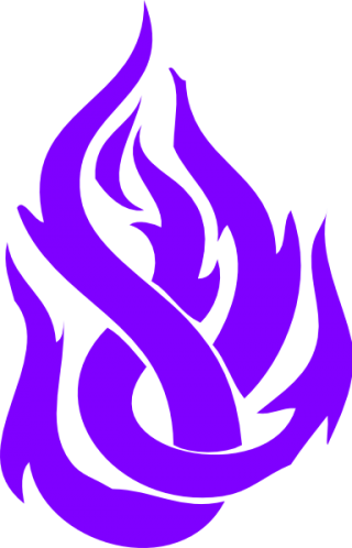 Tribal Fire Blue Purple PNG images