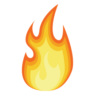 Fire Cartoon Silhouette Transparent PNG PNG images