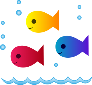 Cute School Of Fish PNG images