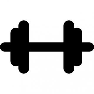 Gym Dumbbell Black Silhouette Icons | Free Download PNG images