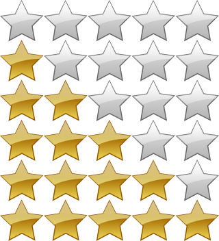 5 Star Rating Icon PNG images
