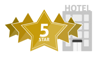 Five, 5 Star Hotel Icon PNG images