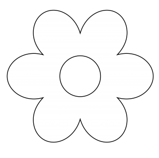 Floral Black And White Flower Clipart PNG images