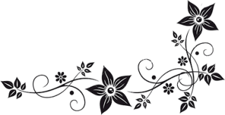 Flower Border Black And White Png PNG images