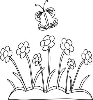 Flower Pot Clipart Black And White PNG images