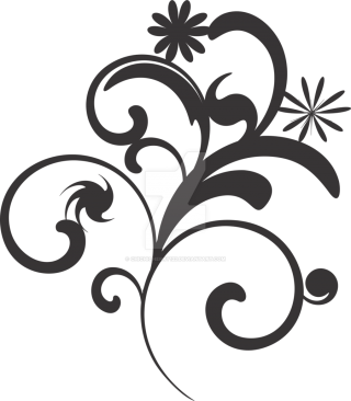 Flower Vector Black And White Png PNG images